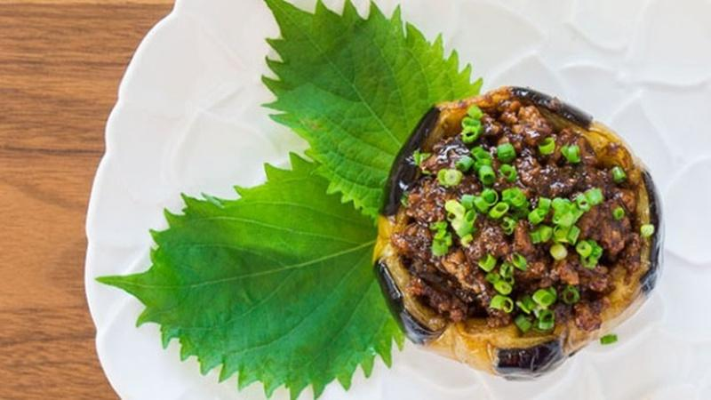Try Stuffed Eggplant Known as Nikumiso Dengaku