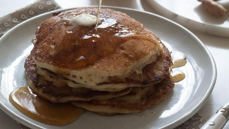Make a Stack of Apple Ginger Pancakes