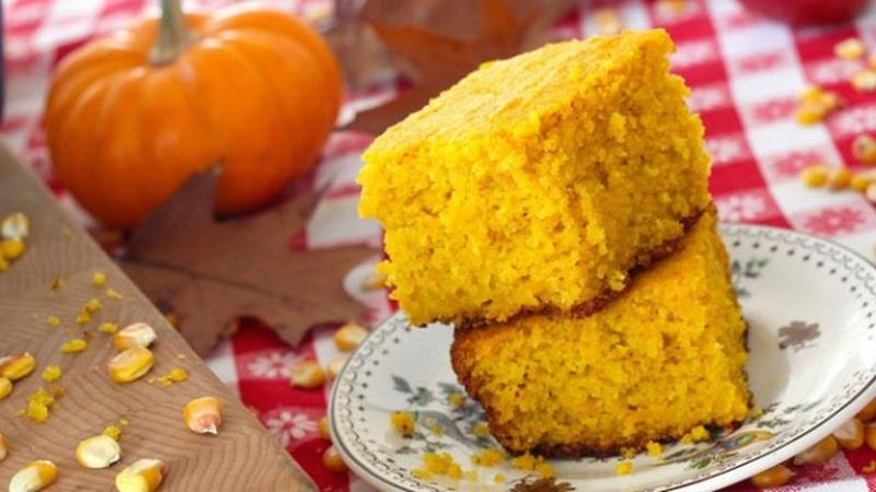 Bake Roasted Squash Cornbread