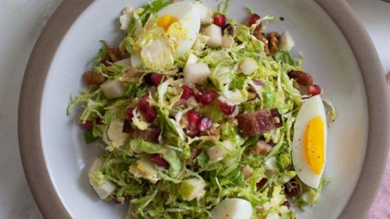 Make Crunchy Shaved Brussels Sprout Salad