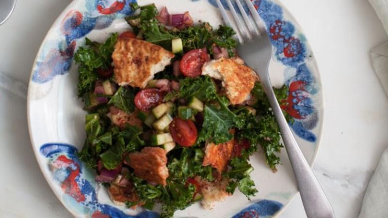 Make Fattoush Salad with Za'atar Pita Chips