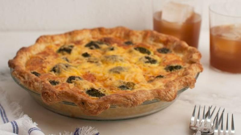 Make Broccoli and Cheddar Quiche for Breakfast