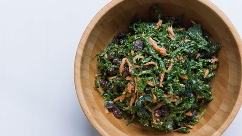 Mix Together a Bowl of Kale Slaw
