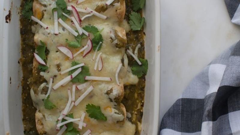 Kick Up the Heat with Salsa Verde Enchiladas