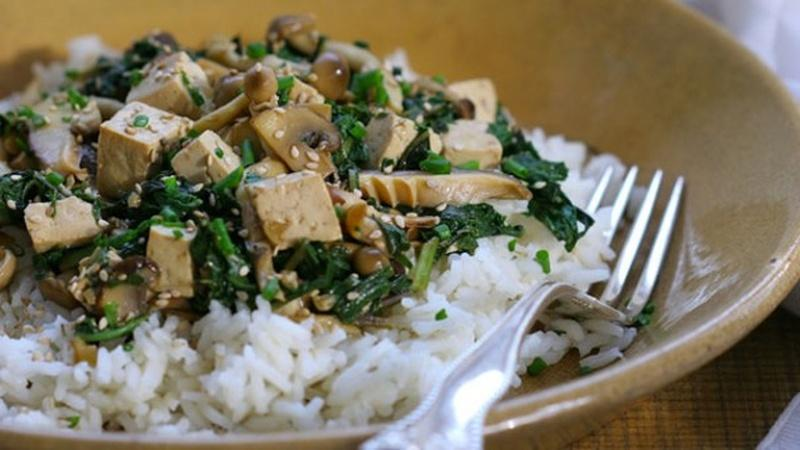 Make Tofu and Spring Greens Stir Fry