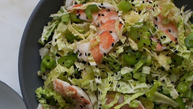 Make Savoy Cabbage Shrimp Salad