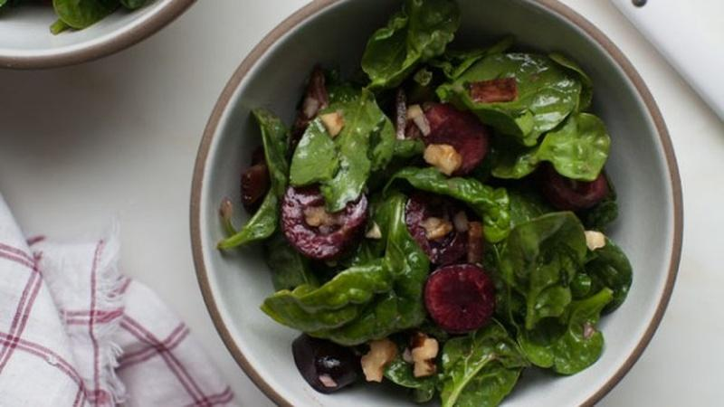 Make Cherry Spinach Salad for a Bright Meal