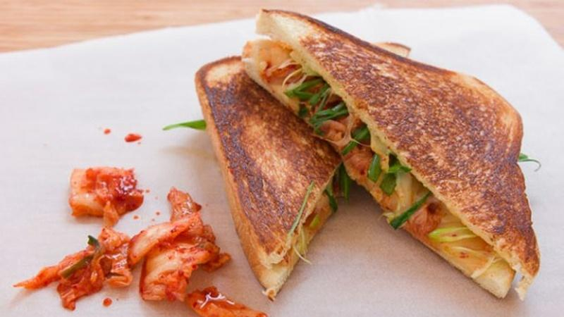 When Kimchi Met Comté: Kimchi Grilled Cheese