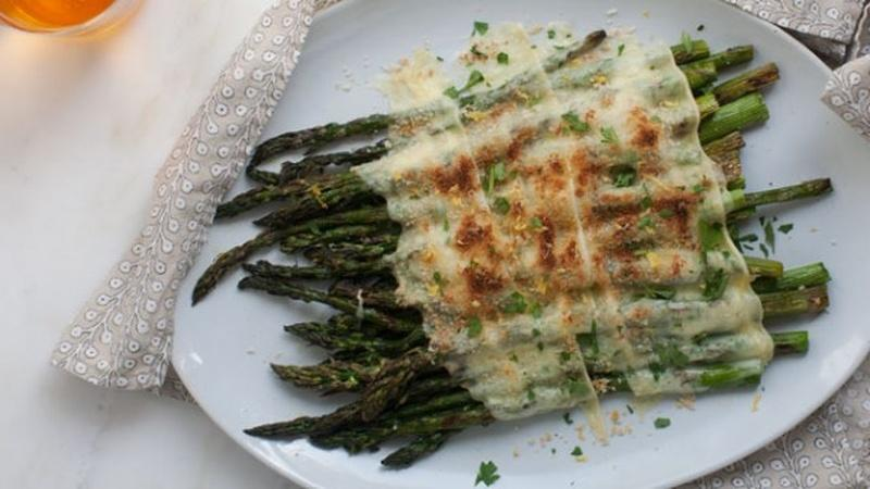 Serve Grilled Asparagus with Raclette
