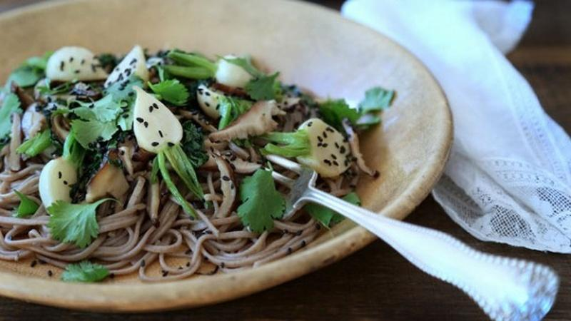 Serve Maple-Glazed Turnips Over Soba Noodles