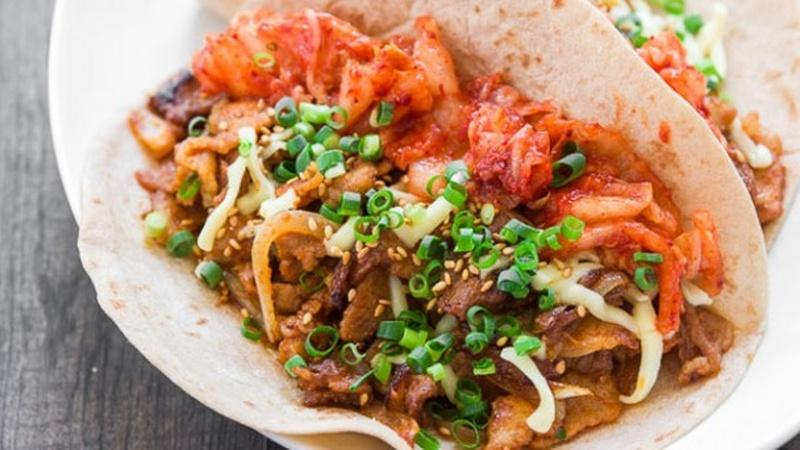 Create a Culinary Mashup With Pork Belly Kimchi Tacos
