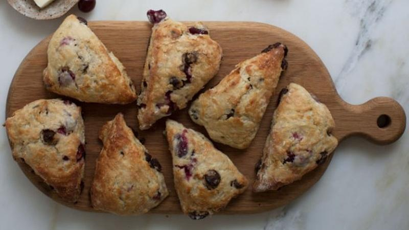 Bake Sour Cherry Chocolate Scones