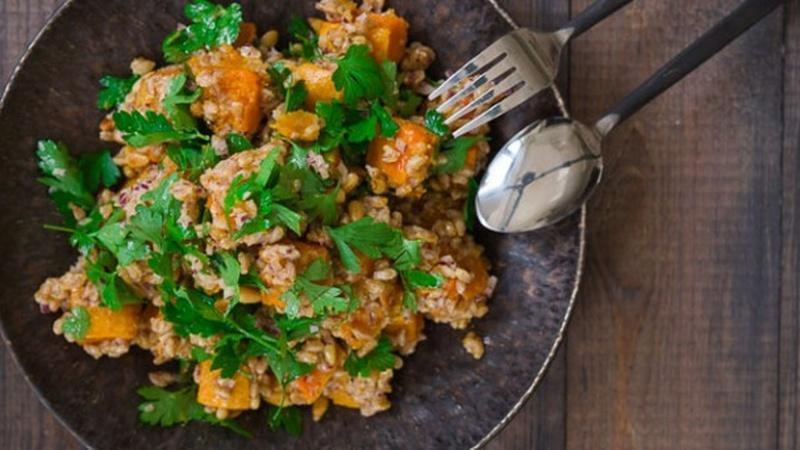 Welcome Fall with Butternut Squash and Farro Salad