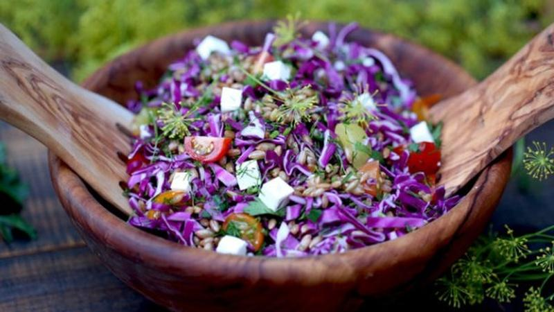 Get Colorful with Rye Berry Salad