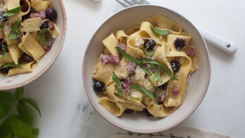 Make Grape and Sopressata Pasta for Dinner