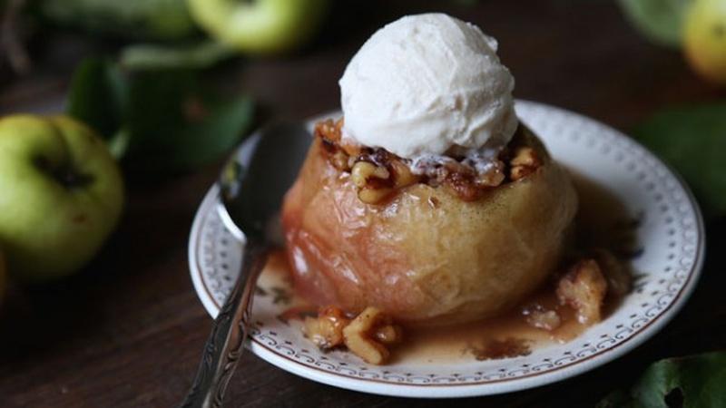Make Maple Walnut Stuffed Baked Apples
