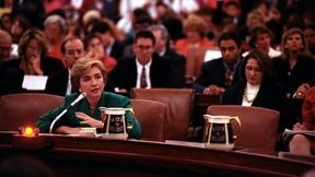 Image of Hillary Clinton Testifies on Capitol Hill on Health Care