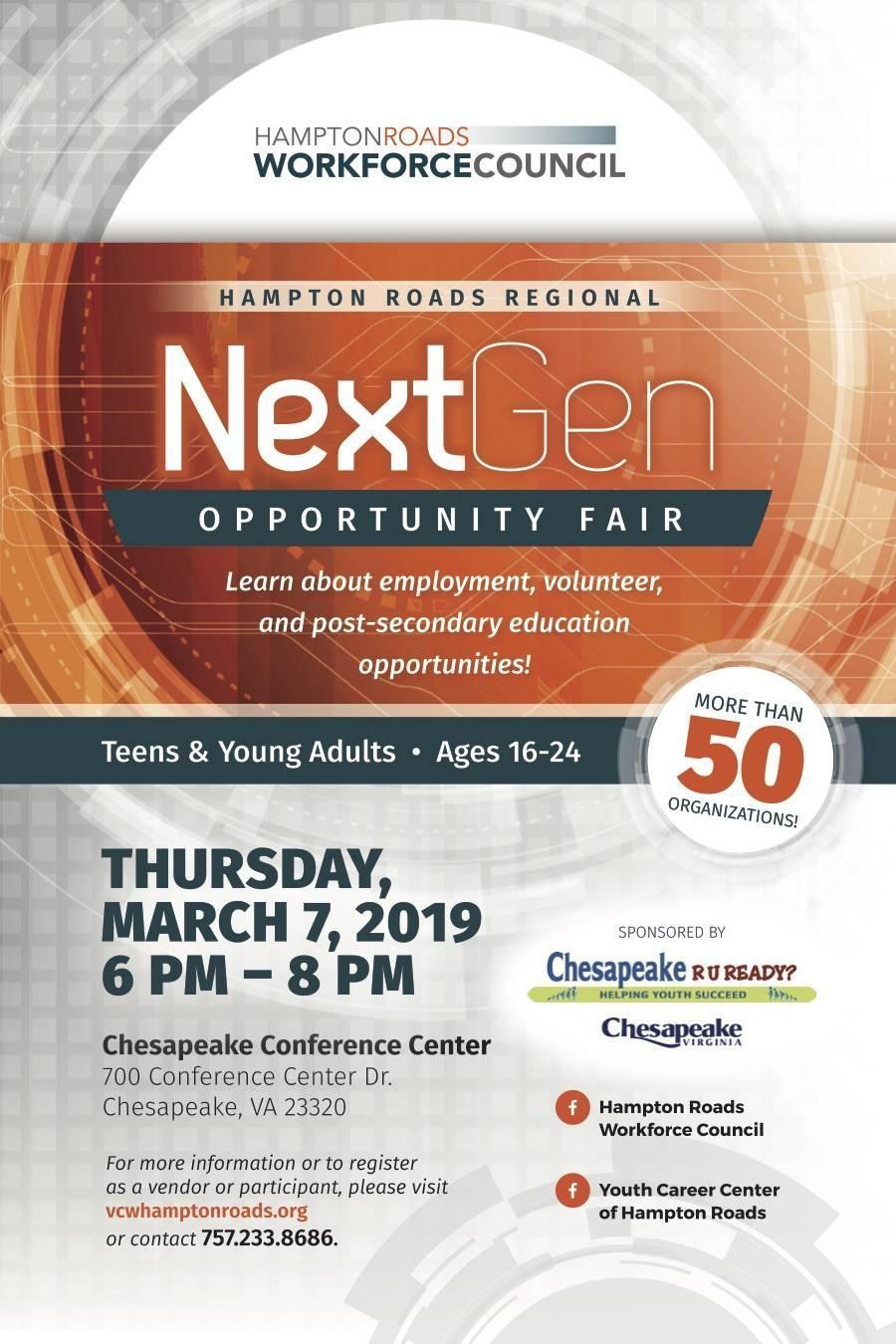 NextGen Opportunity Fair Flier