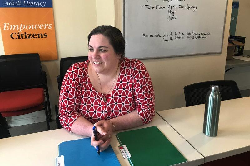 Meredith Eaton, program manager with Literacy Volunteers of Bangor