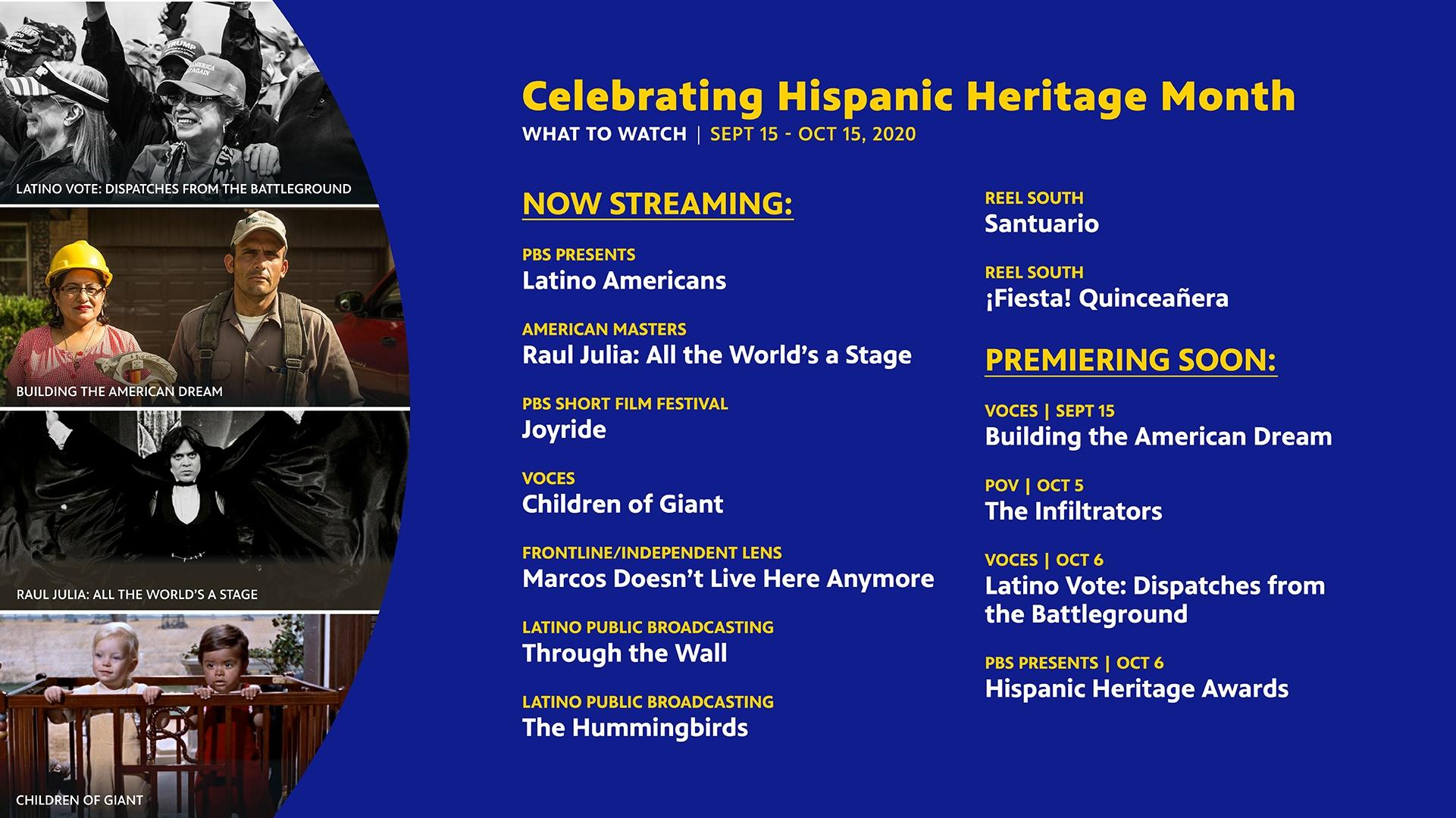 Hispanic Heritage Month | PBS