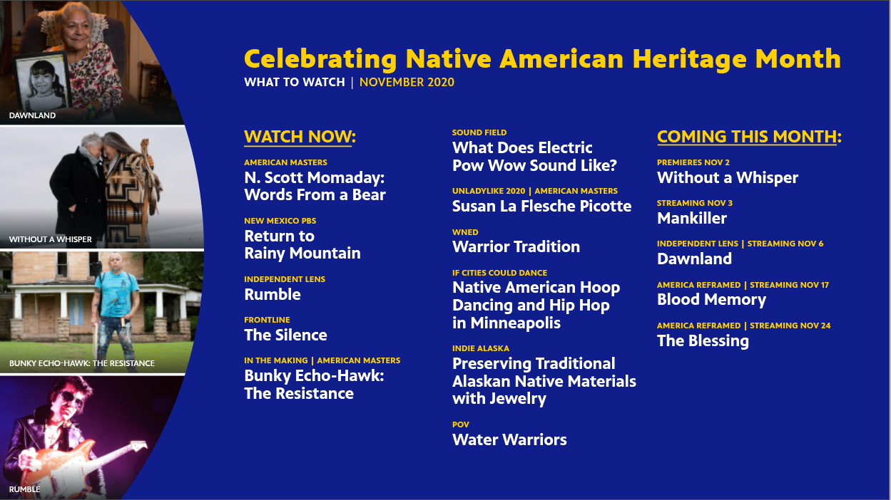 What to Watch November 2020 to Celebrate Native American Heritage Month