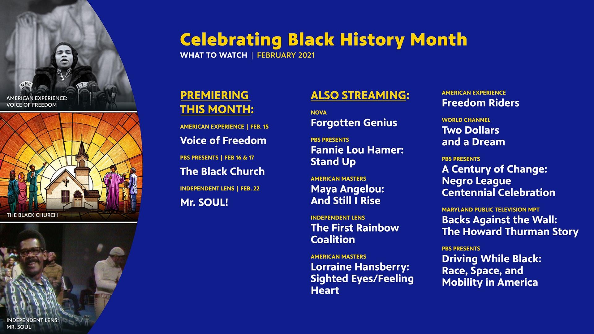 What to Watch February 2021 - Celebrate Black History Month