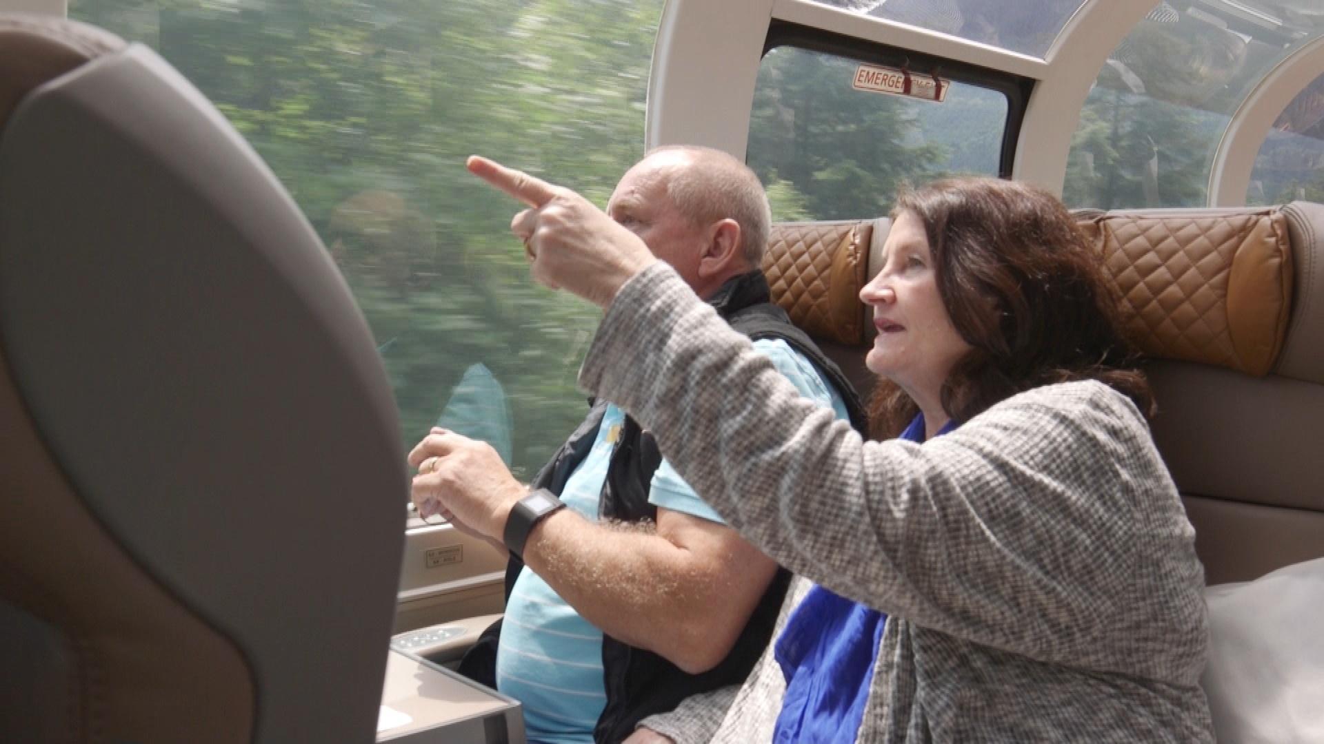 Passengers enjoying the sites.