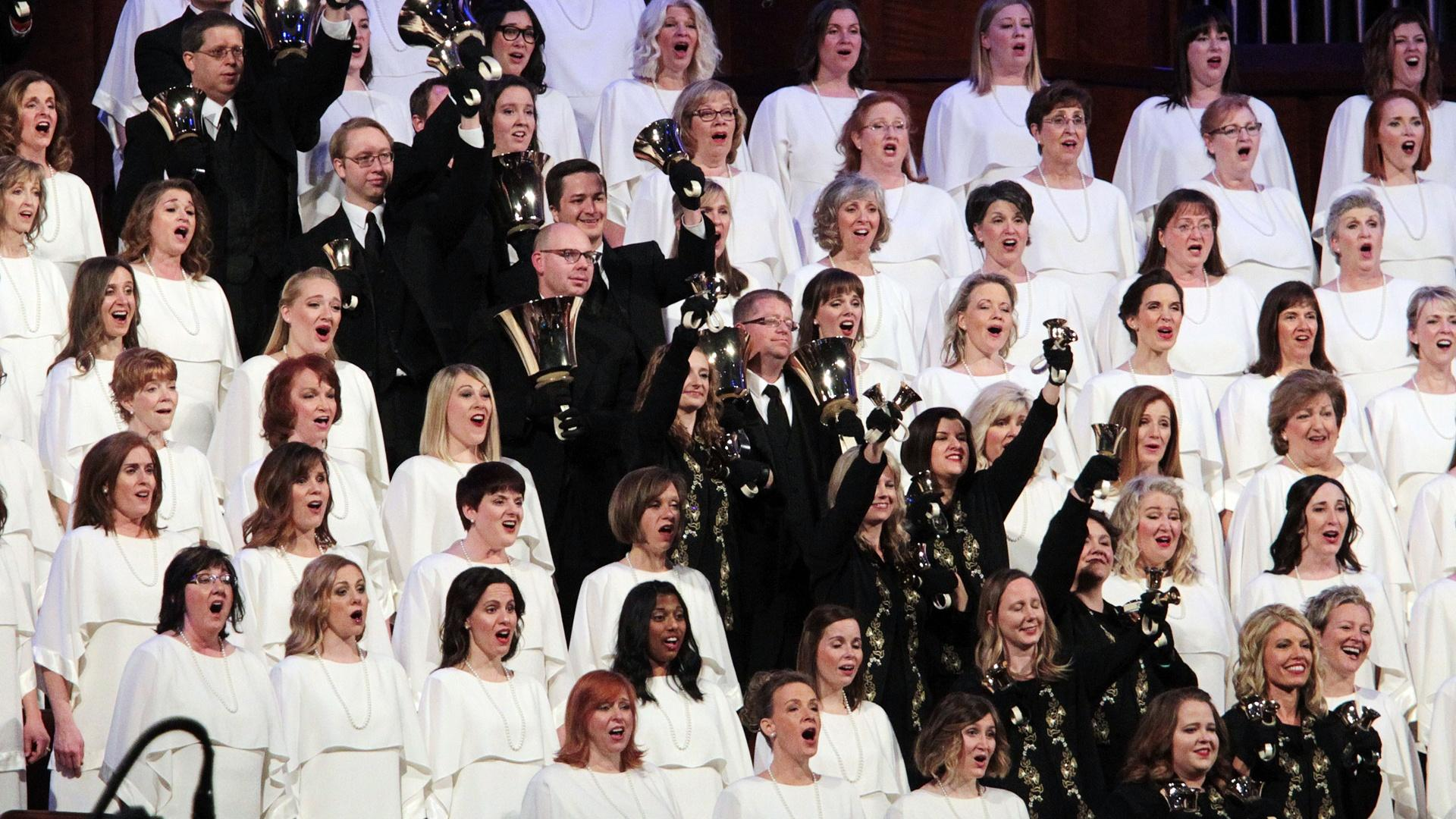 """The Tabernacle Choir & Orchestra at Temple Square perform """"Fill the World with Love."""""""