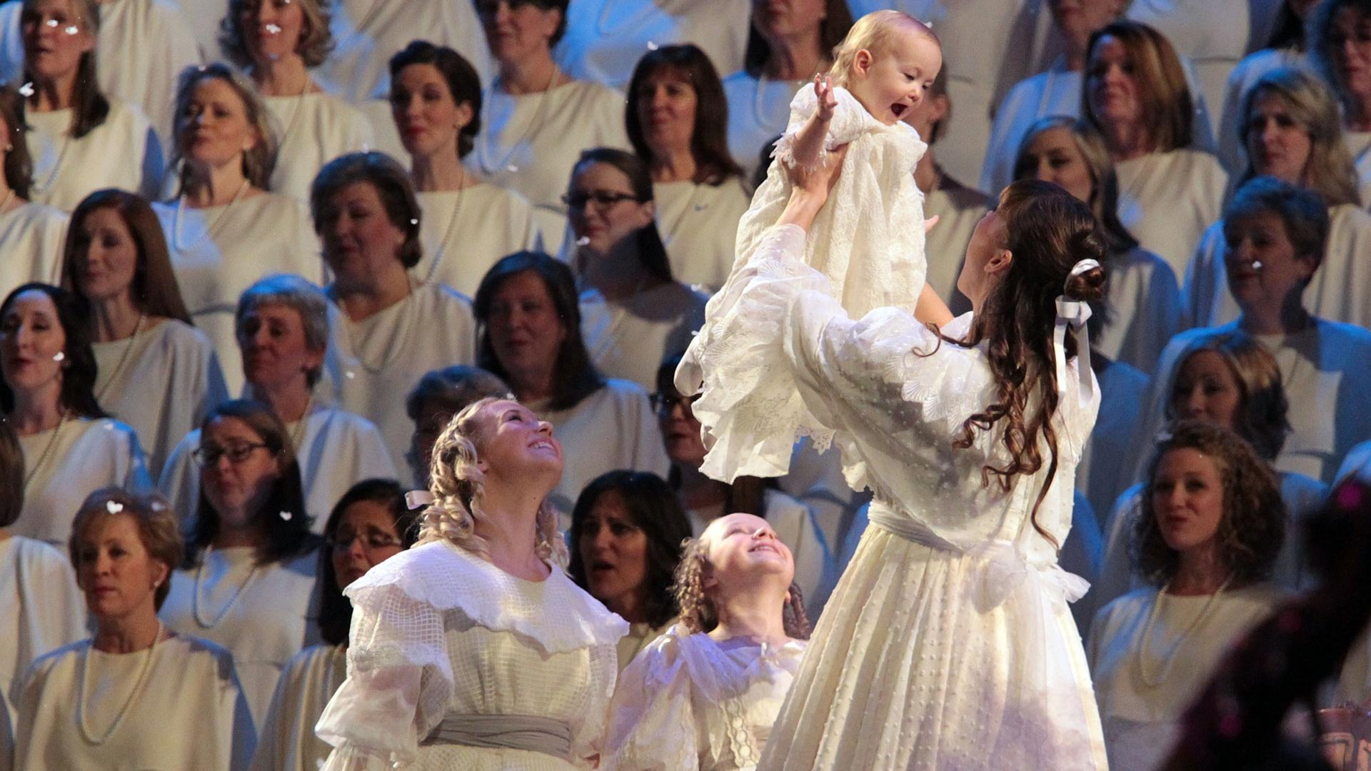 """The Tabernacle Choir & Orchestra at Temple Square performing """"Somewhere in my Memory."""""""