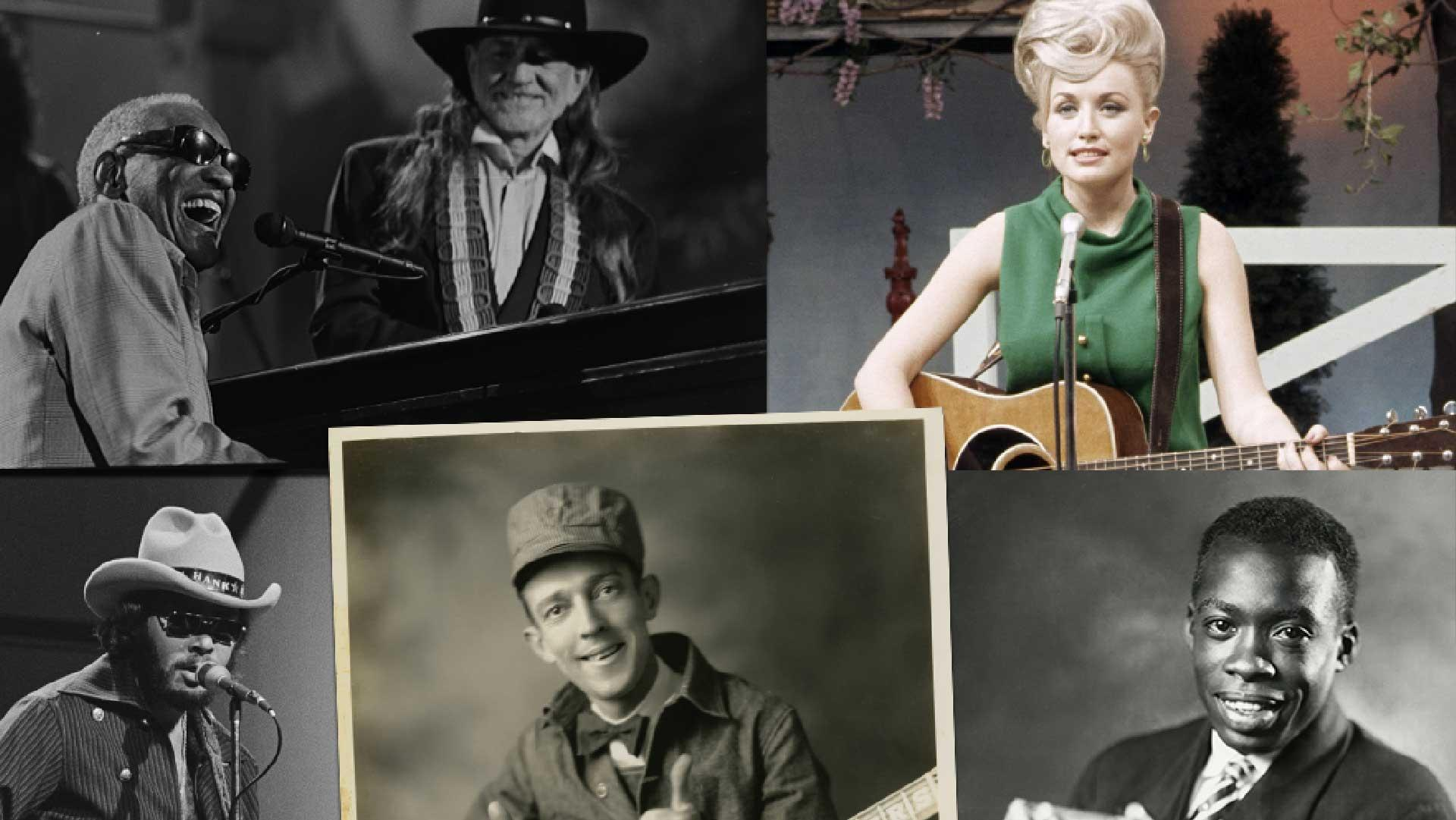 Montage of Country Music timeline images