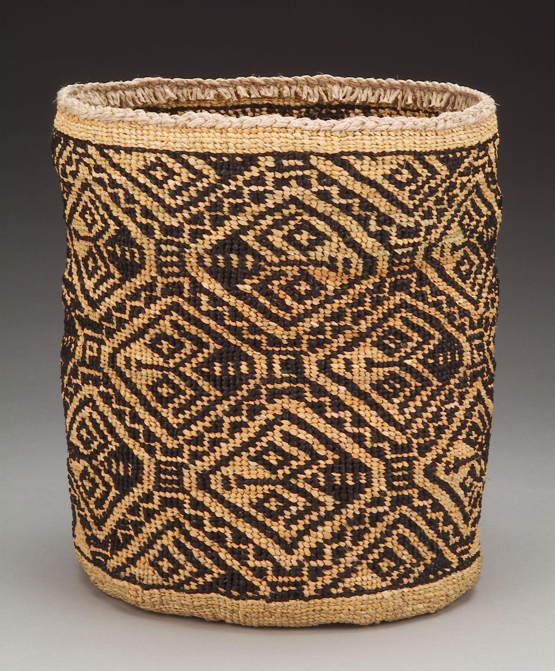 PAT COURTNEY GOLD (WASCO/TLINGIT), HONOR THE WASCO WEAVER OF THE 1805 BASKET COLLECTED BY LEWIS AND CLARK, 2003