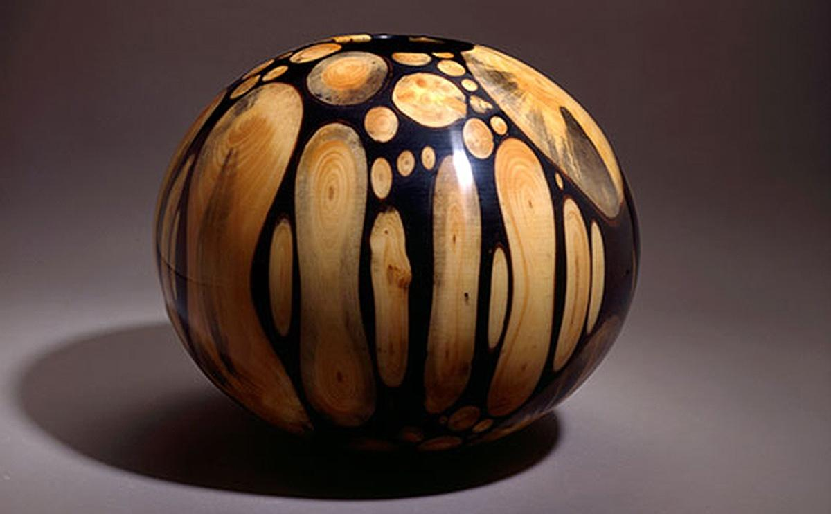 Philip Moulthrop woodturned mosaic bowl