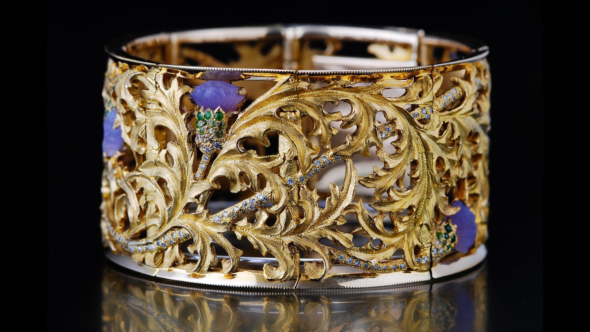 Tom Herman, Thistle Bracelet. Courtesy of the artist.