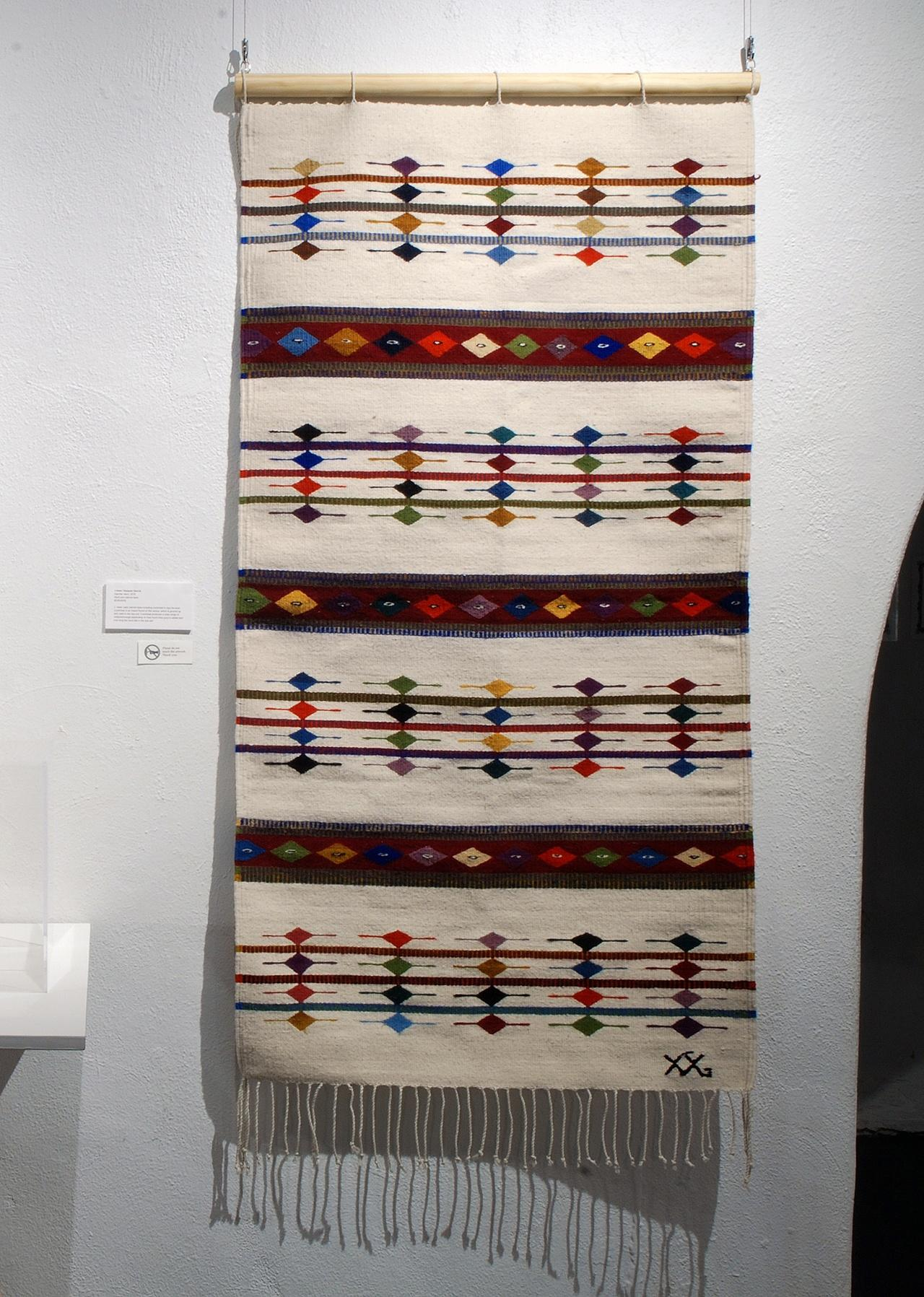 Objects, Borders and Neighbors, J. Isaac Vasquez García, Zapotec stars, 100% wool natural dyes, 2016