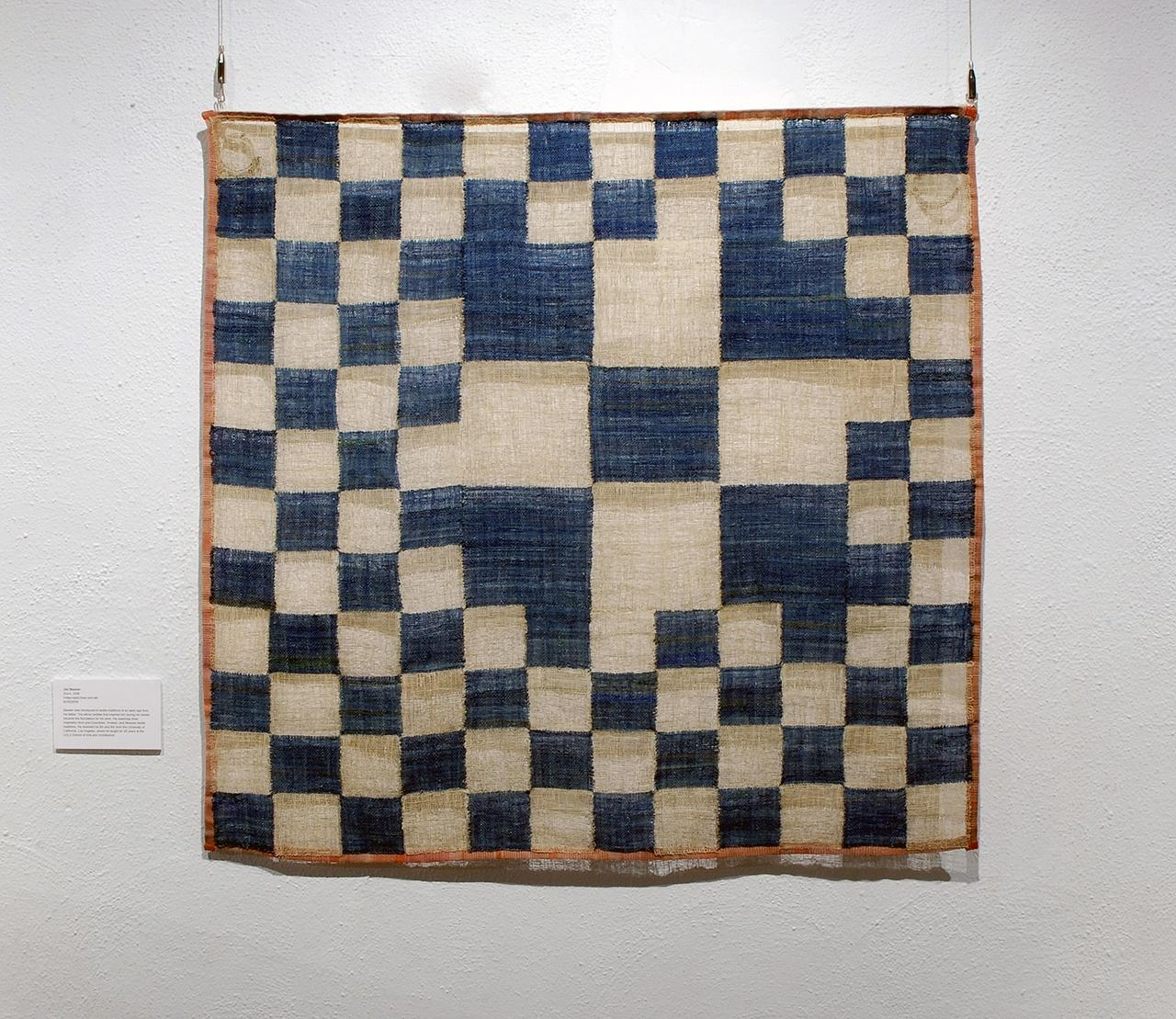 "Objects, Borders and Neighbors, Jim Bassler, ""Zoom"", Indigo-dyed linen and silk, 2008"