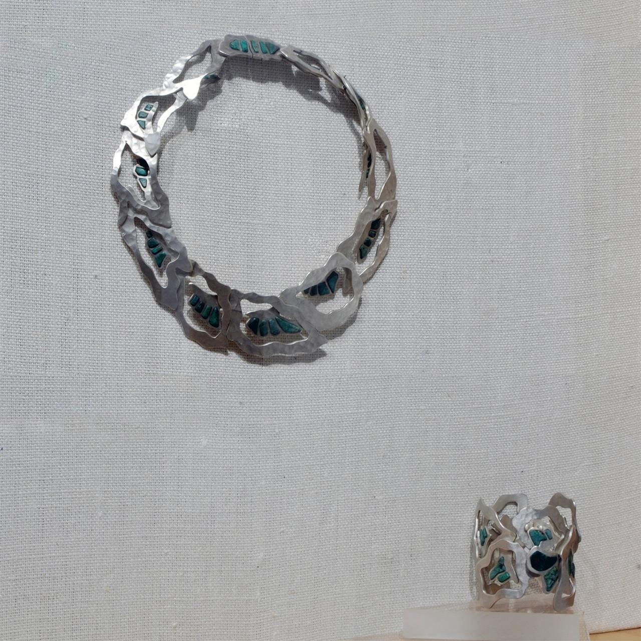 Objects, Borders and Neighbors, Pole, Necklace and cuff, Silver