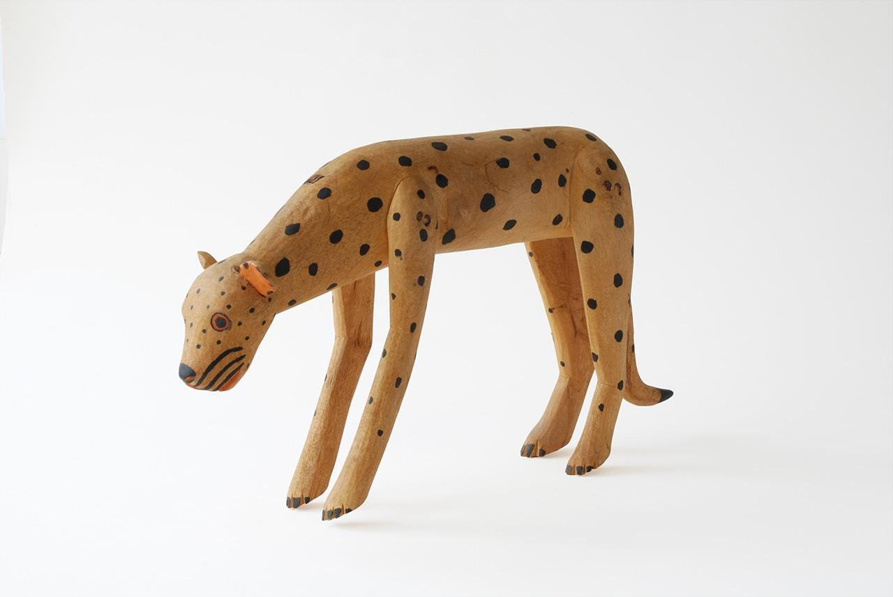 "Objects, Borders and Neighbors, Manuel Jimenez, ""Tigre"", wood, paint, Jim and Veralee Bassler Collection"