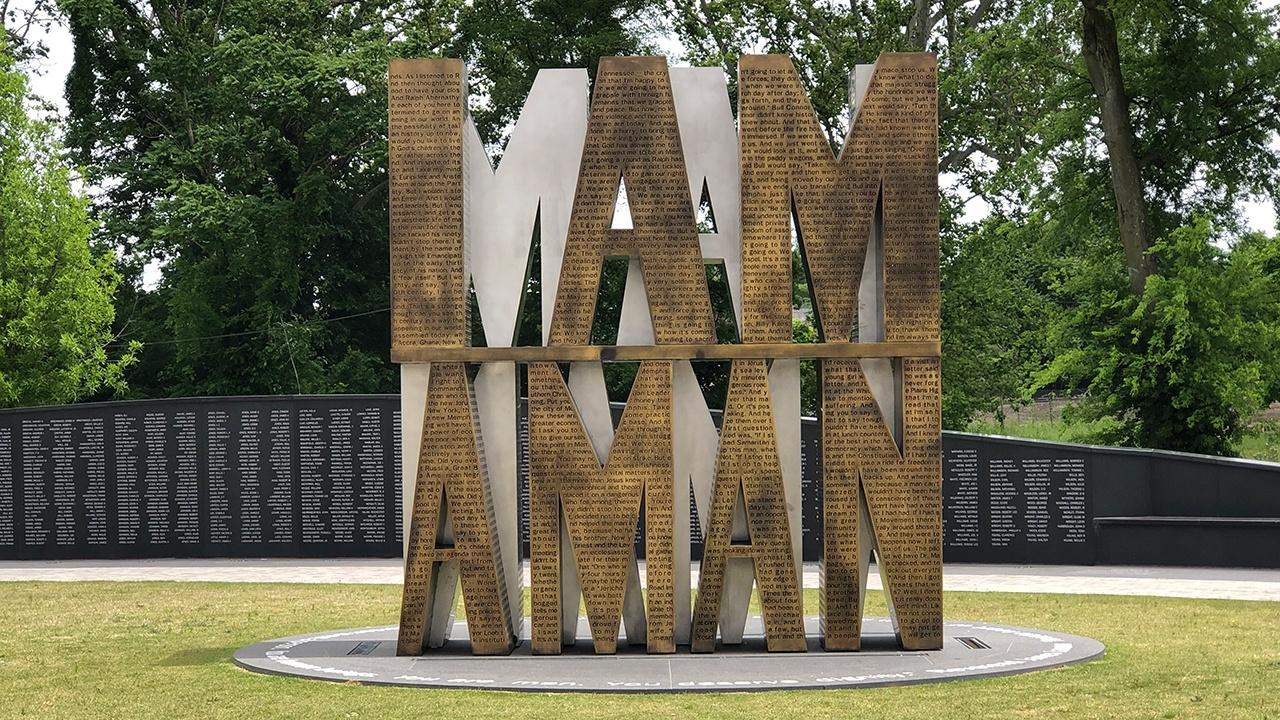 """I Am A Man"" plaza in Memphis"