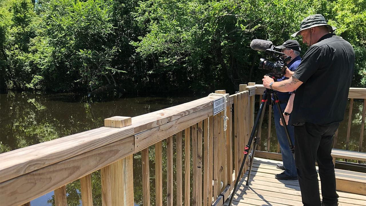On location at the Cajun Pride Swamp Tour