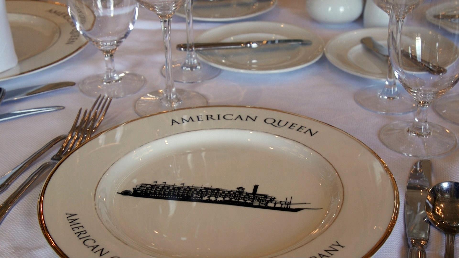 American Queen dinner setting