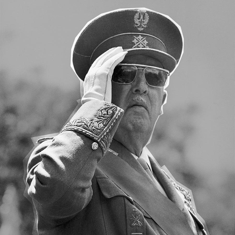 Francisco Franco saluting