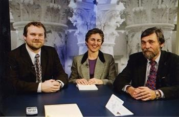 Reporters Greg Hahn, Betsy Russell, and Bob Fick were regular guests
