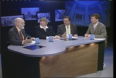 Dr. Jim Weatherby, Betty Richardson, and Henry Kulczyk offered a wide range of opinions to host Jim Peck
