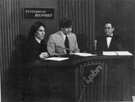 Mindy Cameron and Jeff Seward in 1974, with unidentified guest