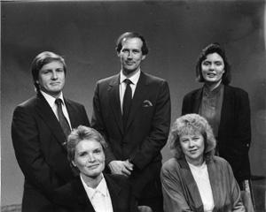Barbara Pulling, Joan Cartan-Hansen, Roger Fuhrman, Bruce Reichert, and Jeannine Sweat