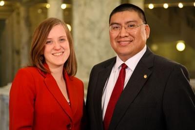 Aaron Kunz and Melissa Davlin, hosts of Idaho Reports