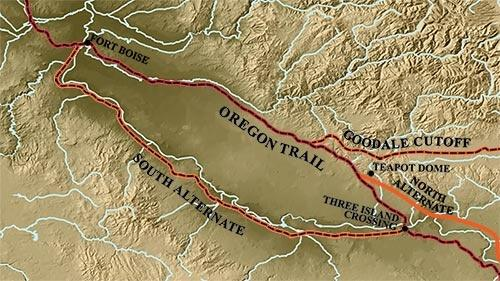 Oregon Trail with South Alternate