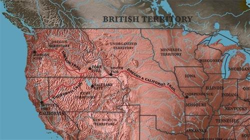 Map circa 1850s