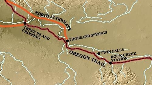 Oregon Trail from Rock Creek Station to Three Island Crossing