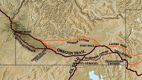Oregon-California Trail through Idaho
